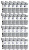 24 Pairs of Kids Sports Crew Socks, Wholesale Bulk Pack Athletic Sock for Girls and Boys, by excell (Gray, 6-8)