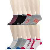 12 Pairs of WSD Mens Ankle Socks, No Show Athletic Sports Socks, Assorted (Assorted Multicolor) - Mens Ankle Sock
