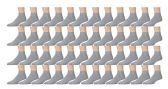48 Pairs of Kids Sports Ankle Socks, Wholesale Bulk Pack Athletic Sock for Girls and Boys, by excell (Gray, 6-8) - Boys Ankle Sock