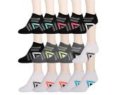 15 Pairs of WSD Womens High Performance Ankle Socks Low Cut Cushioned (Pack B) - Womens Ankle Sock