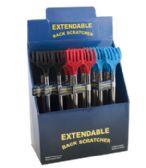 48 Units of Back Scratcher Extendable 24pc Pdq 3ast Colors - Back Scratchers and Massagers