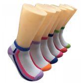 480 Units of Women's Long Striped Low Cut Ankle Socks