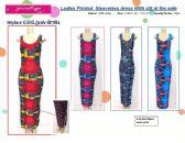 72 Units of Ladies Printed Sleeveless Summer Dress