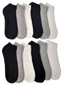 Low Cut Socks for Men Cotton No Show Ankle Socks (12 Pairs - Many Styles) (Assorted (White/Black/Gray)) - Mens Ankle Sock