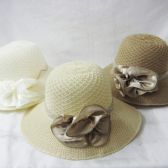 36 Units of Womens Fashion Summer Hat With Flower - Sun Hats