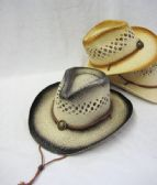 36 Units of Kid's Straw Cowboy Hat