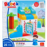 12 Units of Assorted Colored Blocks In Box - Light Up Toys