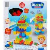 12 Units of 45PC Assorted Colored Blocks In Window Box