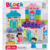 12 Units of ASSORTED COLORED BLOCKS IN COLOR BOX - Light Up Toys