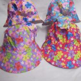48 Units of Girls Summer Sun Cap Floral