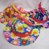 48 Units of Girls Summer Sun Hat Floral