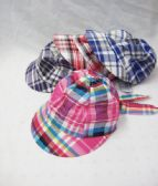 48 Units of Toddlers Summer Cap Plaid