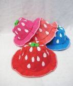 48 Units of Toddler Strawberry Summer Cap