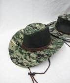 36 Units of Mens Boonie Hiker /Fisher Hat With Rope - Cowboy & Boonie Hat