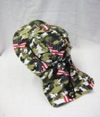 36 Units of Mens Boonie Hiker /Fisher Hat In Camo USA Flag