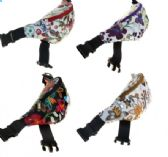 24 Units of Fanny Packs in 4 Assorted Flower Prints (DIMENSIONS: 15 X 5 X 3)