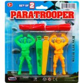 48 Units of 2 Piece Paratrooper With Launcher - Action Figures & Robots