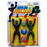 144 Units of 2 Piece Crawling Ninjas - Action Figures & Robots