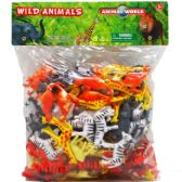 12 Units of One Hundred Piece Plastic Wild Animals - Animals & Reptiles