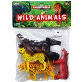 24 Units of Five Piece Wild Animals - Animals & Reptiles