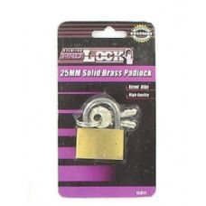 72 Units of 25MM Solid brass padlock - PADLOCKS/IRON/BRASS/COMBO