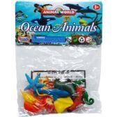 144 Units of 10 Piece Plastic Ocean Animals - Animals & Reptiles