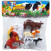 48 Units of 6 Piece Plastic Farm Animals - Animals & Reptiles
