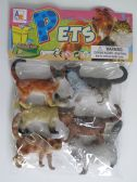 36 Units of 6 Piece Cat Toy - Animals & Reptiles