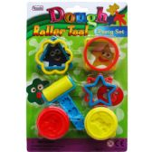 72 Units of 8 Piece Dough Play Tool Set - Clay/Play Dough