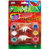 96 Units of 8 Piece Dinosaur Paint Play Set