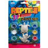 72 Units of 8 Piece Reptile Paint Play Set