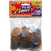 72 Units of 100 Count Coin Play Money - Educational Toys