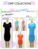 72 Units of Ladies Short Sleeve Round Neck Flared Tunic Dress - Womens Romper / Outfit Sets