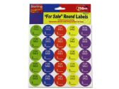 """72 Units of """"For Sale"""" Round Sticker Labels - Stickers"""