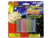 72 Units of Relighting Birthday Candles - Birthday Candles