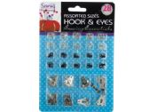 72 Units of Sewing Hook & Eye Set