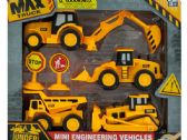 12 Units of Mini Friction Construction Truck Set