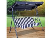 3 Units of Blue Striped Canopy Swing Chair - GARDEN DECOR