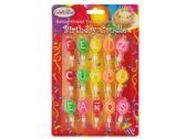 "120 Units of Balloon-Shaped ""Feliz Cumpleanos"" Birthday Candles - Candles"