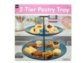 12 Units of 2-Tier Pastry Tray