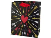 120 Units of Medium Arrows to Heart Valentine Gift Bag