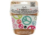 96 Units of Peace Sign Kozy Cuff Felt Beverage Sleeve - Cooler & Lunch Bags