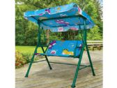 3 Units of Kids Canopy Swing Bench - GARDEN DECOR