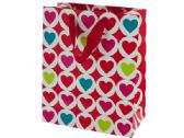 120 Units of Medium Bright Hearts Valentine Gift Bag