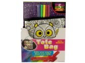 12 Units of Color Your Own Fashion Tote Bag with Markers - Craft Kits