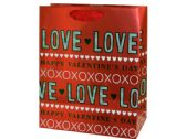 120 Units of Medium XOXO Love Valentine Gift Bag