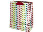120 Units of Medium Colorful Tiny Hearts Valentine Gift Bag
