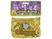 72 Units of Girls' Gold Sequin Pocketbook - Costumes & Accessories