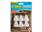 60 Units of Reusable Utensil Hooks Set