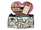 12 Units of Color Your Own Fashion Roll Handbag with Markers